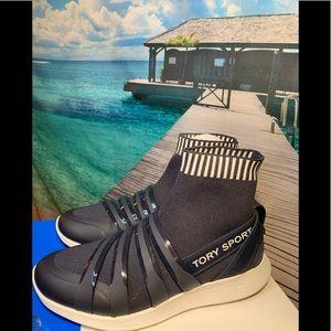 Tory Burch Banner Performance Sock NAVY Sneakers